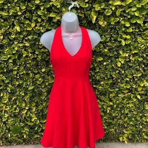 Red Skater Dress by Lulu's